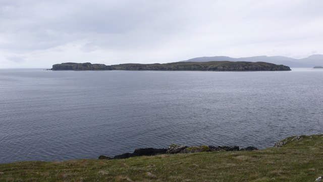 Island of Wiay from the cliffs on Oronsay Island