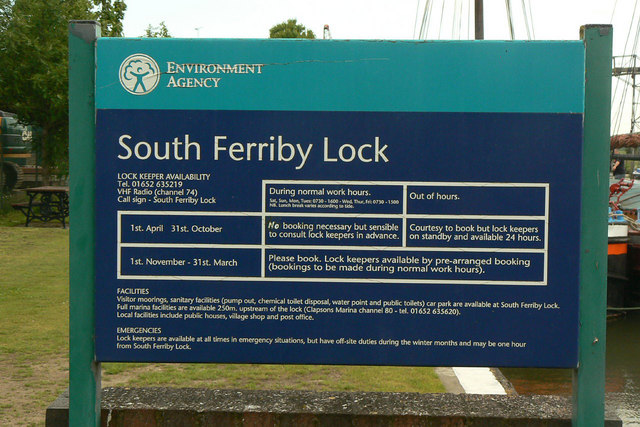 South Ferriby Lock, operating times