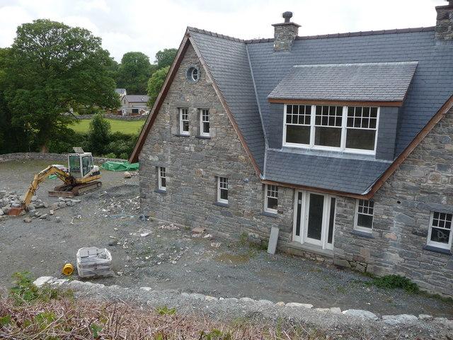 Building work in Llanystumdwy