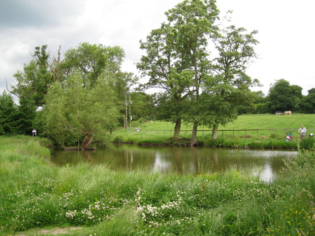 Fishing west of Brome Hall Farm