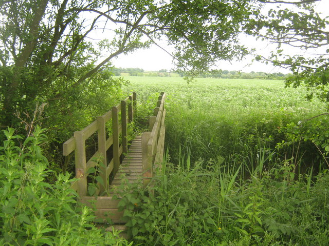 Footbridge near Spring Wood