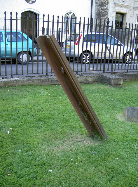 Railway track in St Mary Redcliffe churchyard