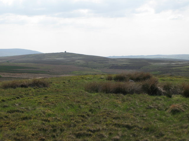 Panorama from the currick on Curricks Rigg (5: W - The Beacon)