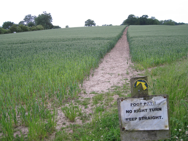 A clearly marked path