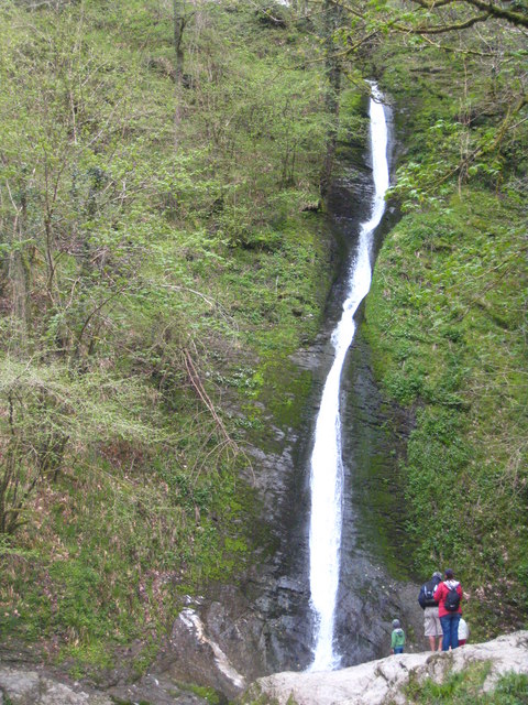 Whitelady Waterfall in Lydford Gorge