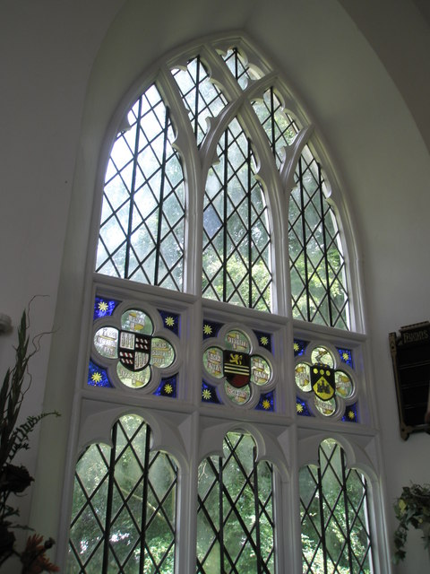 Chapel, Stansted Park- stained glass windows (1)