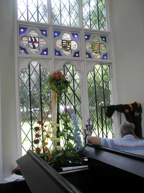 Chapel, Stansted Park- stained glass windows (3)