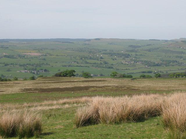 Panorama from the currick on Curricks Rigg (17: N - Highshield Crags)