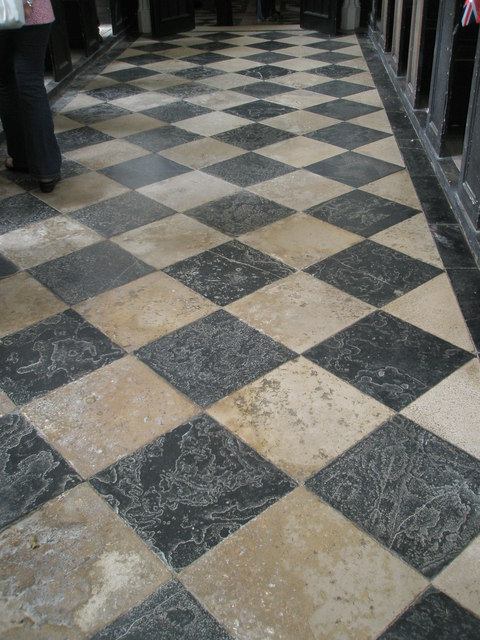 Chapel, Stansted Park- well worn flooring