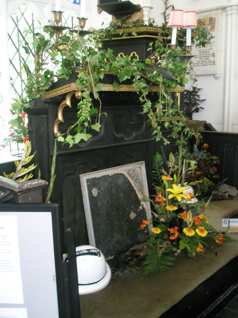 Chapel, Stansted Park- decorated pulpit