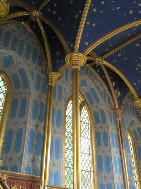 Chapel, Stansted Park- ornate ceiling