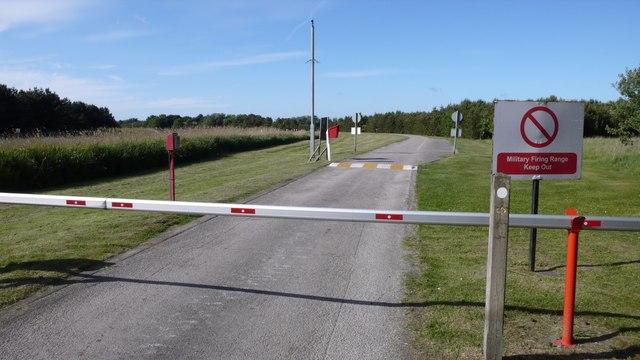 Altcar Rifle Range Entrance