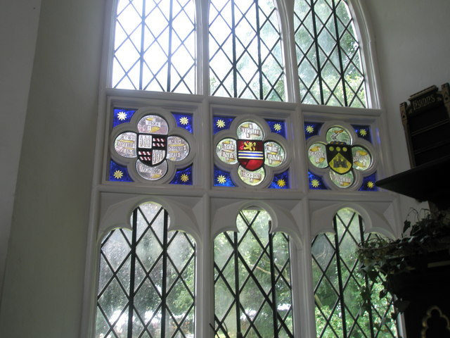 Chapel, Stansted Park- stained glass windows (4)