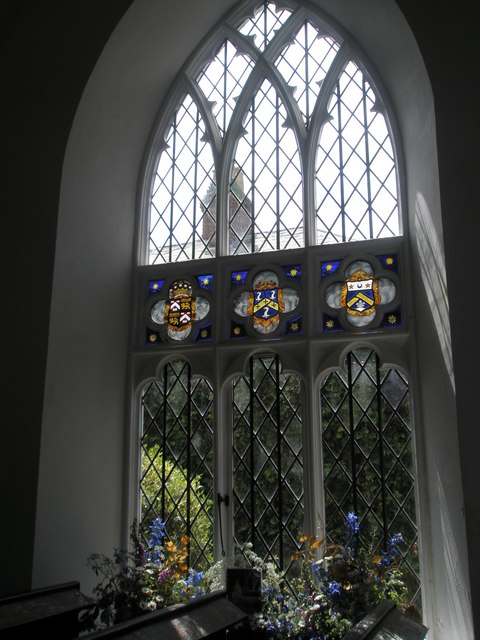 Chapel, Stansted Park- stained glass windows (5)