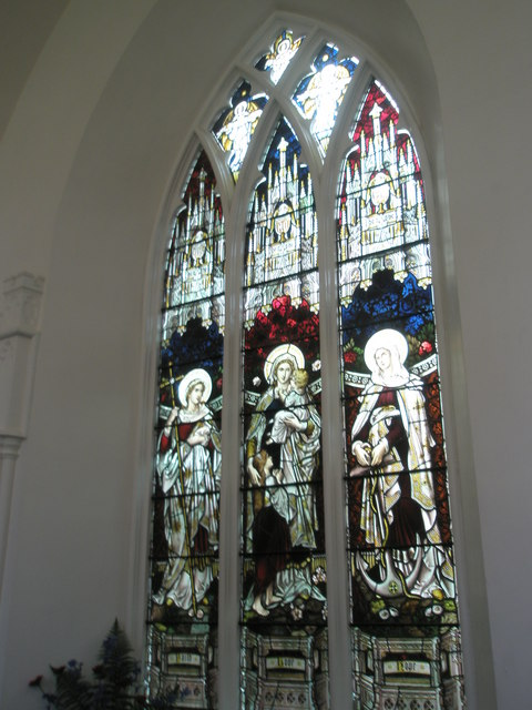 Chapel, Stansted Park- stained glass windows (6)