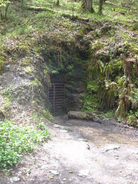 Mine adit in Lydford Gorge