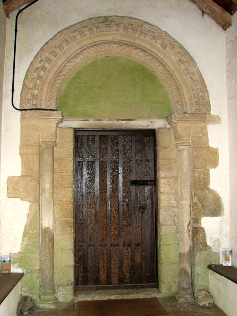 St Mary's church in Crimplesham - Norman doorway
