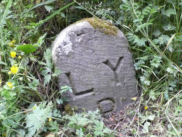 Lancashire and Yorkshire Railway Marker Stone