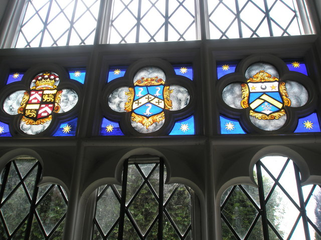 Chapel, Stansted Park- stained glass windows (7)