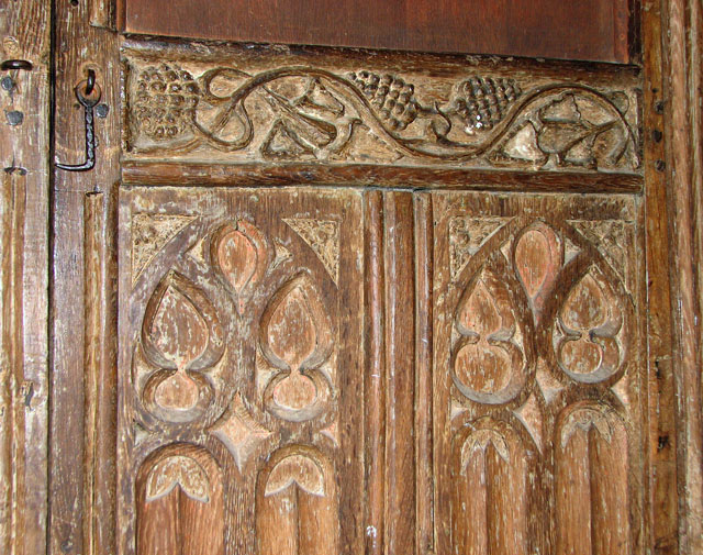 St Mary's church in Crimplesham - tower screen (detail)