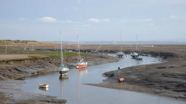 Boats in the Alt estuary