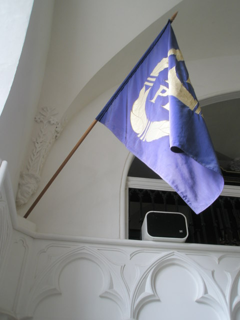 Chapel, Stansted Park- EU flag presented to The 10th Earl of Bessborough