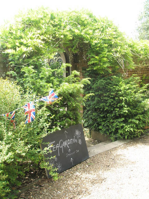 An inviting sign at the entrance to the Walled Garden