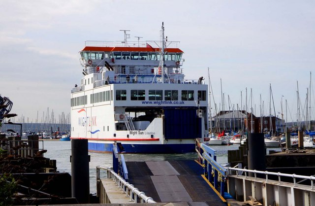 A Wightlink ferry approaches Lymington