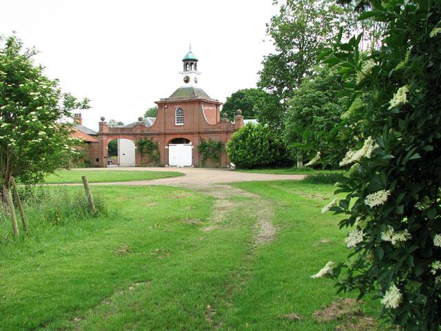 Back entrance to Didlington Hall