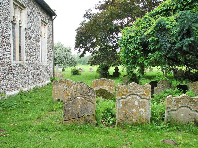 St Michael's church in Didlington - churchyard