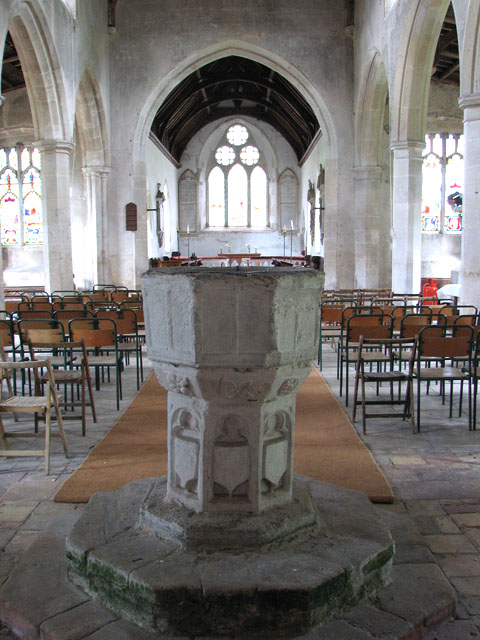 St Michael's church in Didlington - baptismal font