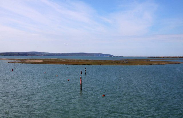 Marker posts on the Lymington River