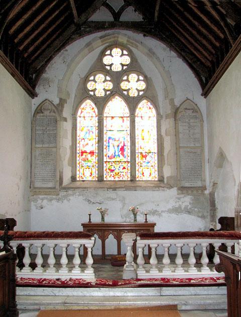 St Michael's church in Didlington - the chancel