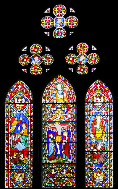 St Michael's church in Didlington - east window