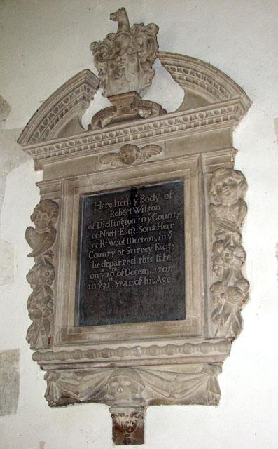 St Michael's church in Didlington - C18 memorial