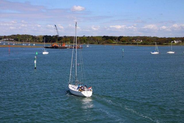 The Lymington River estuary