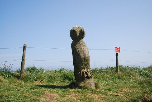 Headland Way Statue, Dyke End