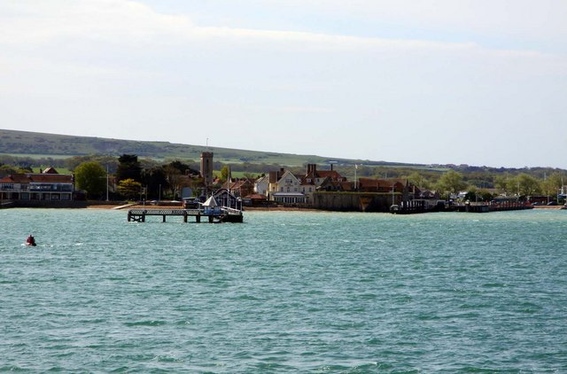 Yarmouth and pier from the IOW ferry