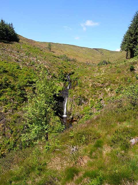 Waterfall on the Afon Lwyd