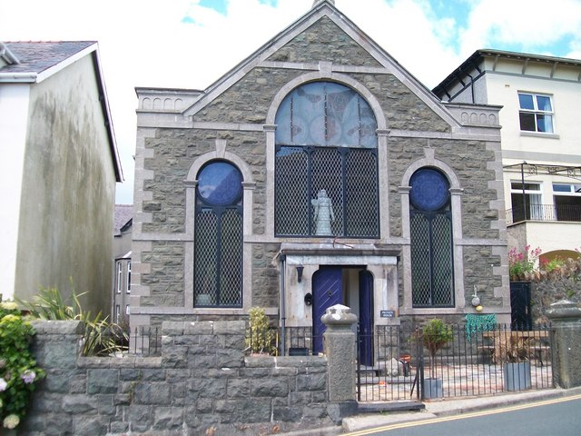 The conversion into a handsome dwelling of what was the English Cause at Criccieth
