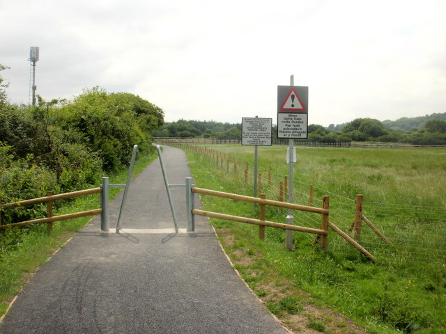 Signs at the Caerleon start of riverside cycle route
