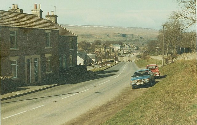 The B6282 enters Middleton-in-Teesdale in 1984