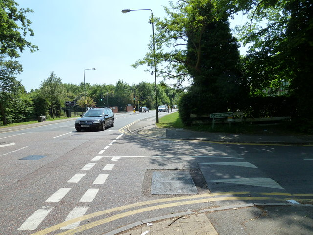 Junction of Oldfield Road and Blackbrook Lane