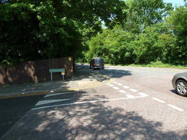 Junction of Blackbrook Lane and Oldfield Road