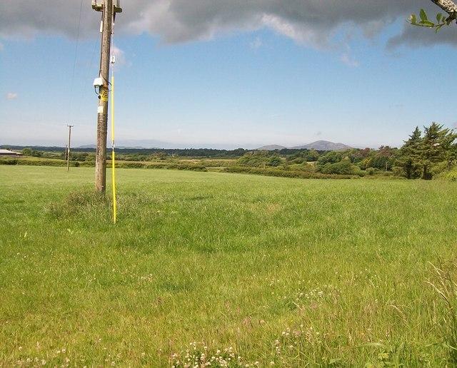 Farmland north of the Lleyn Coastal Path