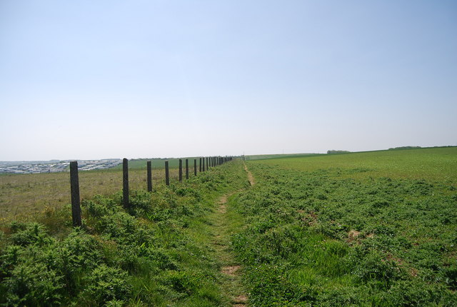Footpath south to Flamborough