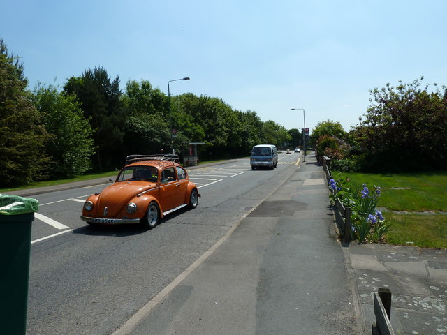 "Orange ""Beetle"" in Blackbrook Lane"