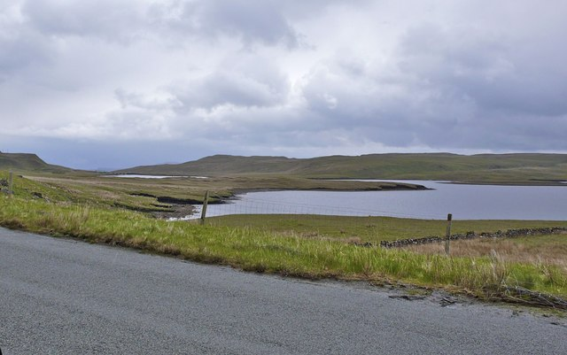 Loch Leathan (north) from the nearby road