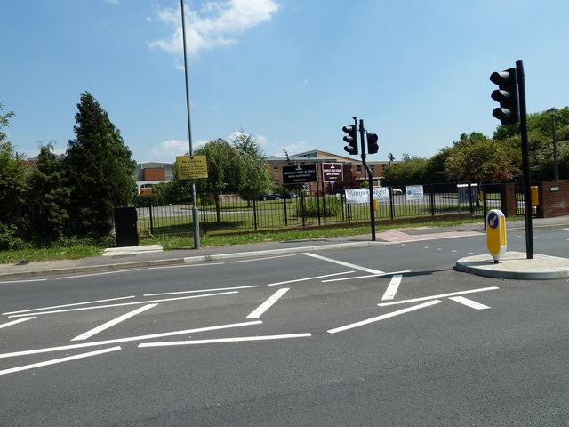 Traffic lights in Blackbrook Lane