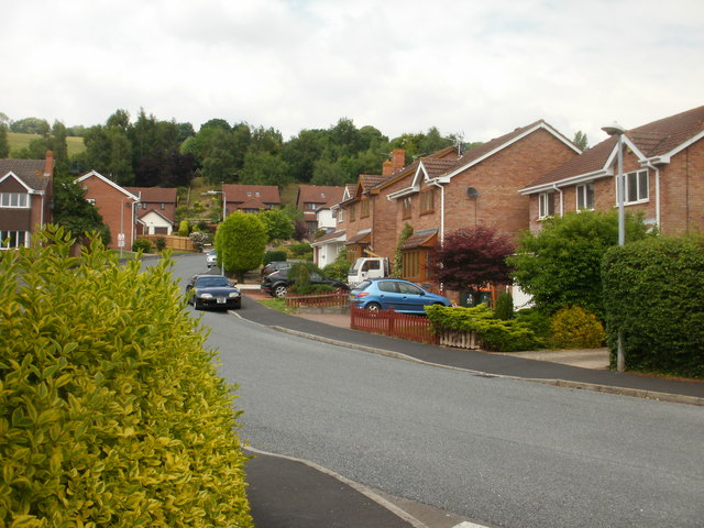 Western section of Wentwood Road, Caerleon